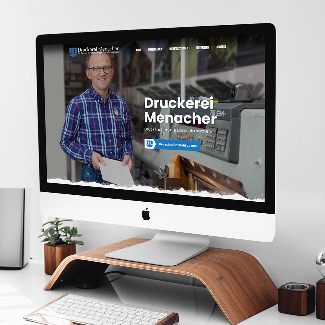 Druckerei Menacher Webseite